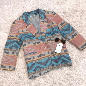 Vintage Bill Blass Aztec Blazer Jacket